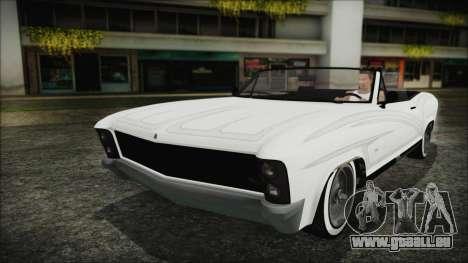 GTA 5 Albany Buccaneer Bobble Version für GTA San Andreas Rückansicht