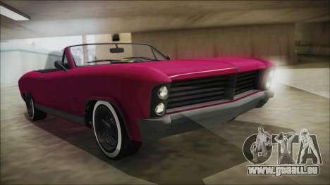 GTA 5 Albany Buccaneer Bobble Version für GTA San Andreas
