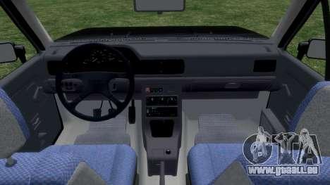 Daewoo-FSO Polonez Bella DC Leichenwagen 1998 für GTA 4 Innenansicht