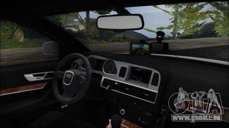 Audi A6 C6 Lithuanian Police für GTA San Andreas rechten Ansicht