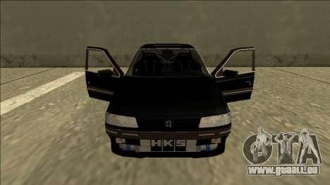 Peugeot 405 Drift für GTA San Andreas Innenansicht