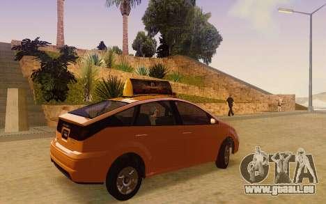 Karin Dilettante Taxi für GTA San Andreas zurück linke Ansicht