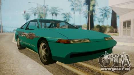 Uranus FnF Skins pour GTA San Andreas sur la vue arrière gauche