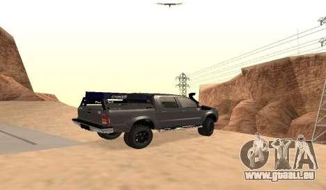 Toyota Hilux 2012 Activa barra del pour GTA San Andreas laissé vue