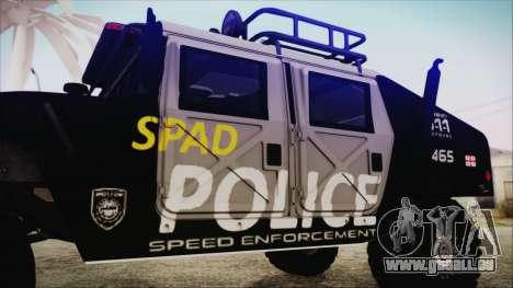 Hummer H1 Police für GTA San Andreas rechten Ansicht