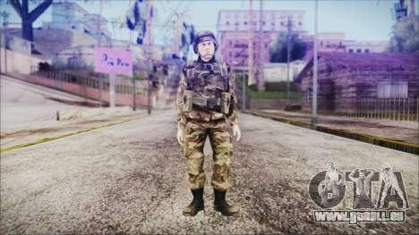 World In Conflict US Marine pour GTA San Andreas deuxième écran