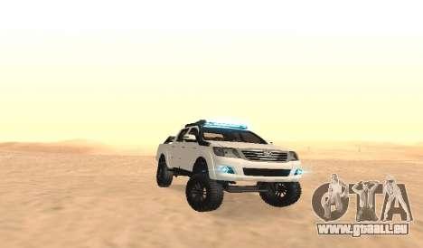 Toyota Hilux 4WD 2015 Rustica pour GTA San Andreas vue arrière