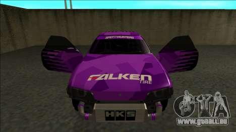 Nissan Skyline R32 Drift Falken pour GTA San Andreas vue de dessous