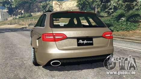 GTA 5 Audi RS4 Avant [LibertyWalk] hinten links Seitenansicht