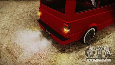 GTA 5 Declasse Moonbeam No Interior IVF für GTA San Andreas Rückansicht