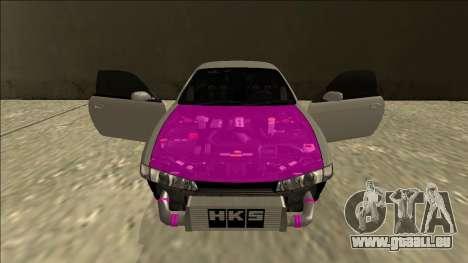 Nissan Silvia S14 Drift für GTA San Andreas obere Ansicht