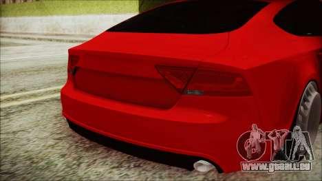 Audi A7 Messer v1 für GTA San Andreas Rückansicht