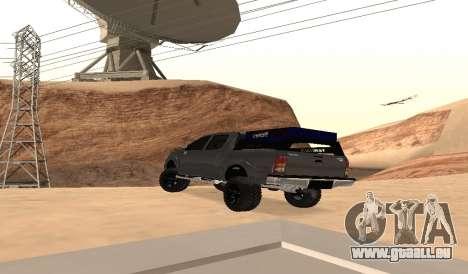 Toyota Hilux 2012 Activa barra del pour GTA San Andreas sur la vue arrière gauche