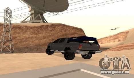 Toyota Hilux 2012 Activa barra led für GTA San Andreas zurück linke Ansicht