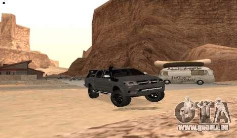 Toyota Hilux 2012 Activa barra led für GTA San Andreas rechten Ansicht