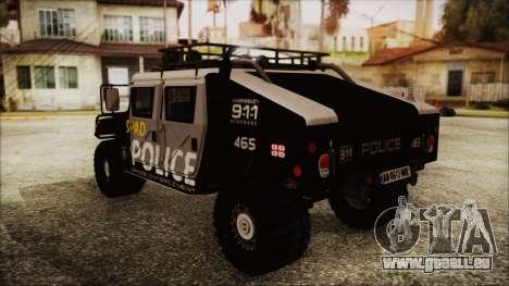 Hummer H1 Police für GTA San Andreas linke Ansicht