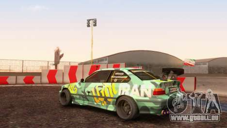 Bmw E36 Full Tuning pour GTA San Andreas sur la vue arrière gauche