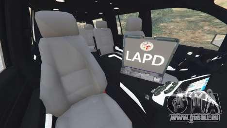 GTA 5 Chevrolet Suburban Police Unmarked 2015 droite vue latérale