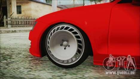 Audi A7 Messer v1 für GTA San Andreas zurück linke Ansicht
