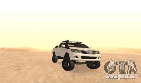 Toyota Hilux 4WD 2015 Rustica pour GTA San Andreas vue intérieure