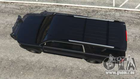 GTA 5 Chevrolet Suburban Police Unmarked 2015 vue arrière