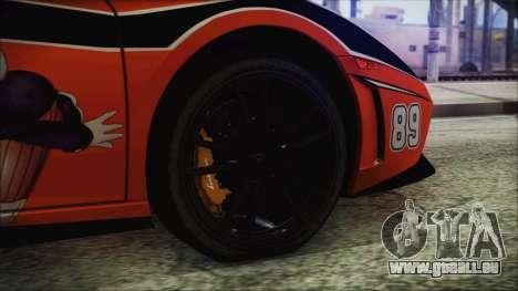 Lamborginhi Gallardo LP-570 Spyder HxH Neferpito für GTA San Andreas zurück linke Ansicht