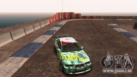 Bmw E36 Full Tuning pour GTA San Andreas vue arrière