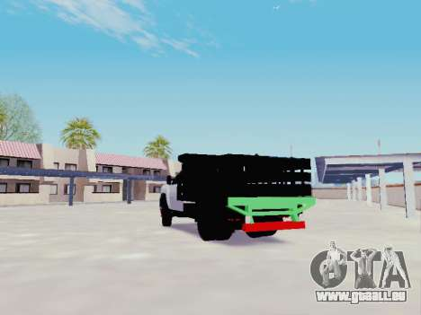 Chevrolet Silverado 3500 HD pour GTA San Andreas sur la vue arrière gauche