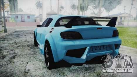 Mazda RX-8 Reventon Itasha Vocaloid Miku pour GTA San Andreas laissé vue