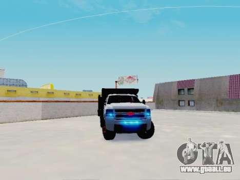 Chevrolet Silverado 3500 HD pour GTA San Andreas vue de droite