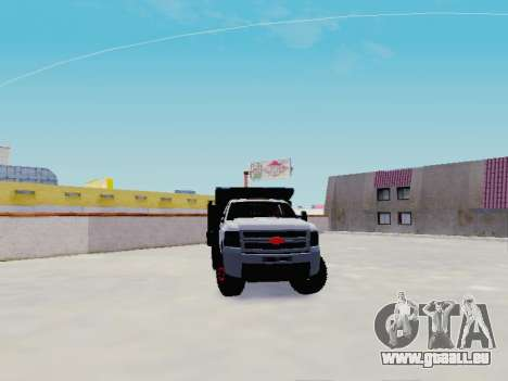 Chevrolet Silverado 3500 HD pour GTA San Andreas vue arrière