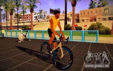 GTA V Tri-Cycles Race Bike für GTA San Andreas zurück linke Ansicht