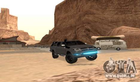 Toyota Hilux 2012 Activa barra led für GTA San Andreas Rückansicht