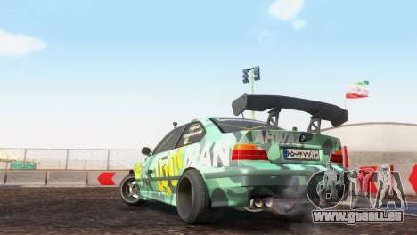 Bmw E36 Full Tuning pour GTA San Andreas vue de droite