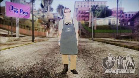 GTA 5 Ammu-Nation Seller 1 pour GTA San Andreas deuxième écran