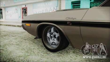 Dodge Challenger RT für GTA San Andreas zurück linke Ansicht
