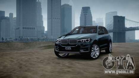 BMW X5 2015 pour GTA 4 Vue arrière de la gauche