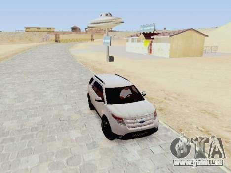 Ford Explorer 2013 Semi-Tuning für GTA San Andreas Rückansicht