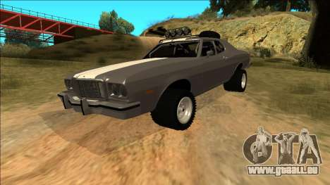Ford Gran Torino Rusty Rebel pour GTA San Andreas moteur