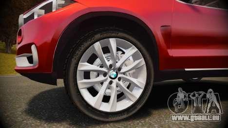 BMW X5 2014 pour GTA 4 est une vue de l'intérieur