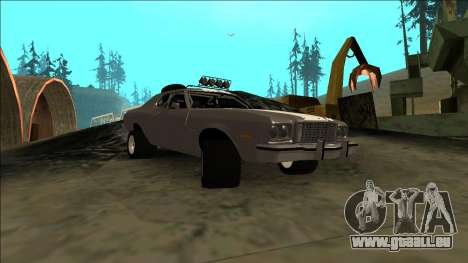 Ford Gran Torino Rusty Rebel pour GTA San Andreas vue arrière