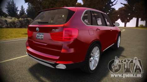 BMW X5 2014 pour GTA 4 Vue arrière de la gauche