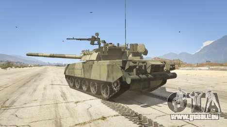 GTA 5 T-80U arrière vue latérale gauche