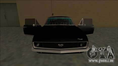 Chevrolet Camaro SS Drift für GTA San Andreas Innen