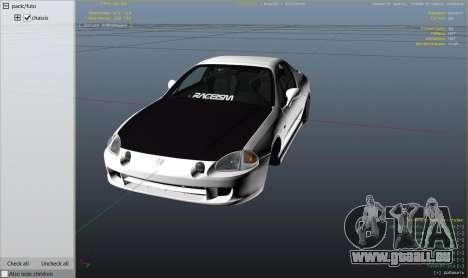 GTA 5 Honda CRX Del Sol droite vue latérale