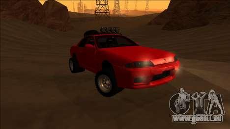 Nissan Skyline R32 Rusty Rebel pour GTA San Andreas vue arrière