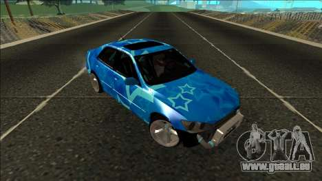 Lexus IS300 Drift Blue Star für GTA San Andreas Innenansicht