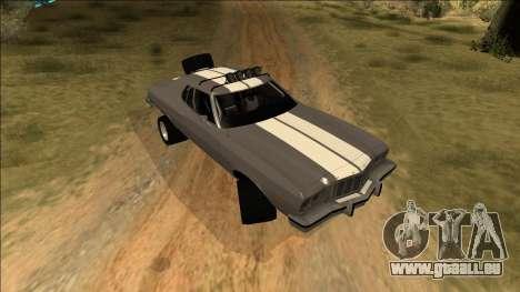 Ford Gran Torino Rusty Rebel pour GTA San Andreas vue de dessous