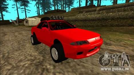 Nissan Skyline R32 Rusty Rebel pour GTA San Andreas moteur
