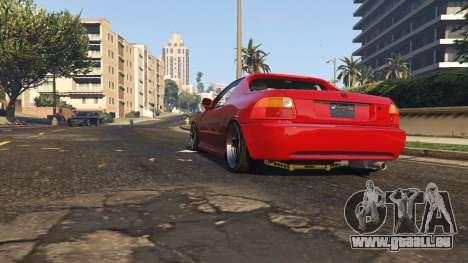 GTA 5 Honda CRX Del Sol vue arrière